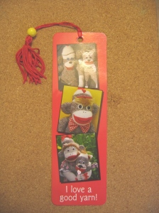 sock monkey bookmark