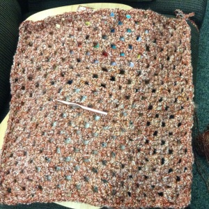 Homespun blanket in the works